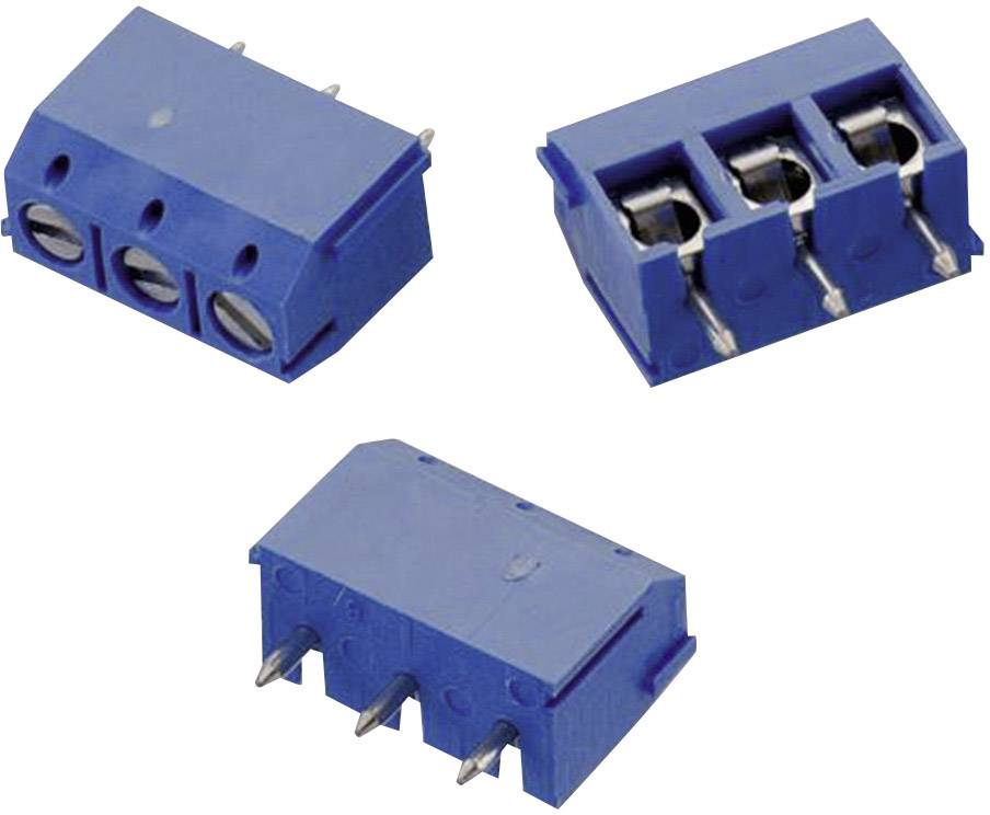 Skrutkovacia svorka Würth Elektronik WR-TBL 102 691102710002, 0.33 mm², Počet pinov 2, modrá, 1 ks