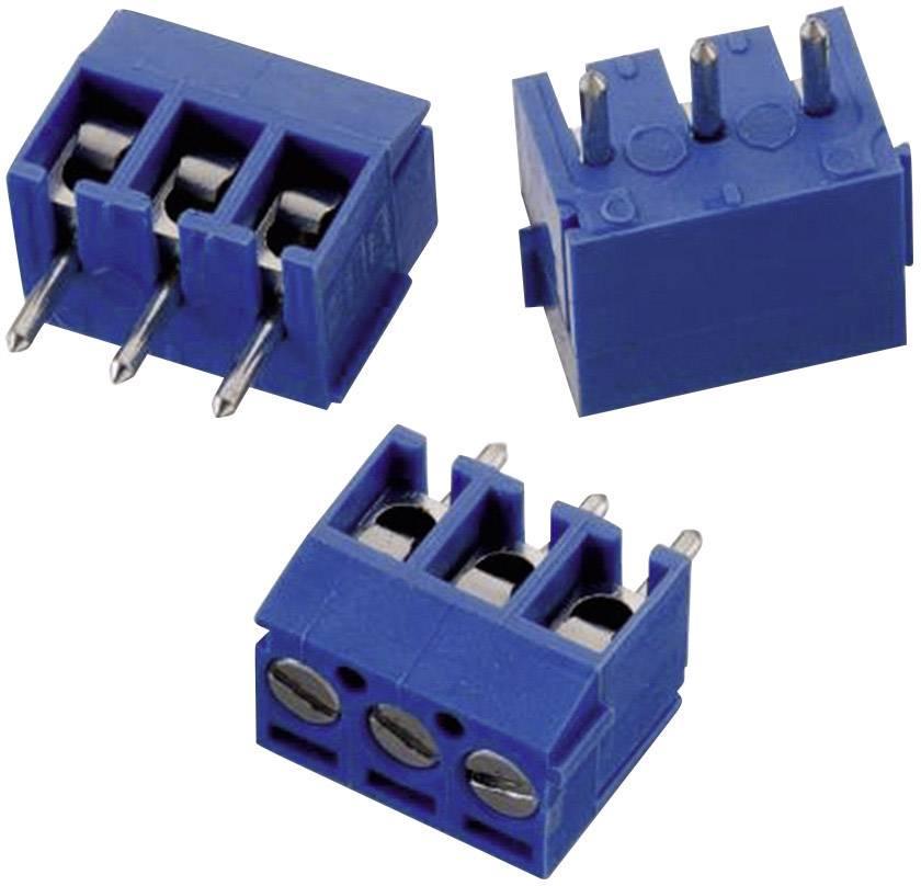 Skrutkovacia svorka Würth Elektronik WR-TBL 1031 691103110003, 1.31 mm², Počet pinov 3, modrá, 1 ks