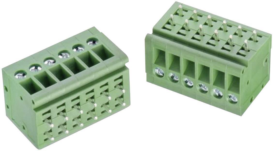Skrutkovacia svorka Würth Elektronik WR-TBL 126 B 691126710006B, 3.30 mm², Počet pinov 6, zelená, 1 ks