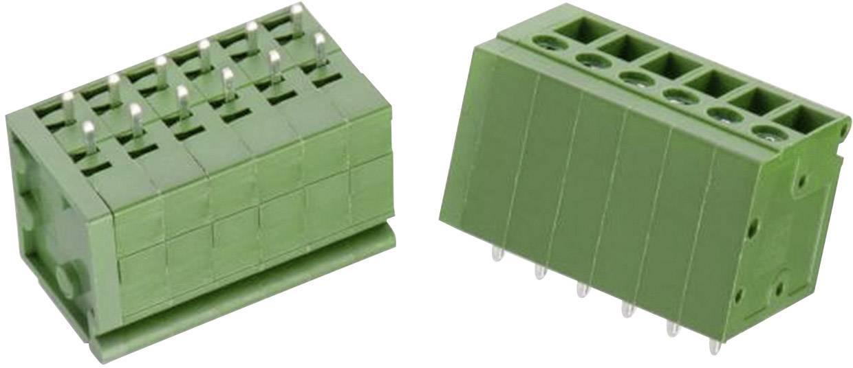 Šroubová svorkovnice Würth Elektronik WR-TBL 127 B 691127700006B, 3.30 mm², pólů 6, zelená, 1 ks
