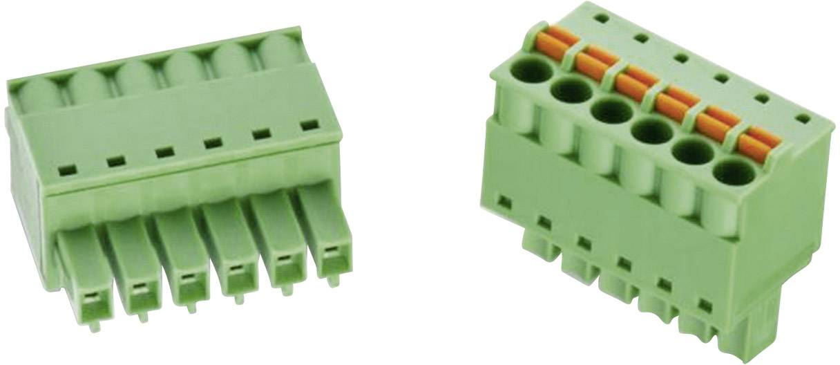 Ukončovací blok Würth Elektronik 691368300008B, AWG 28 - 16, pružinová, zelená