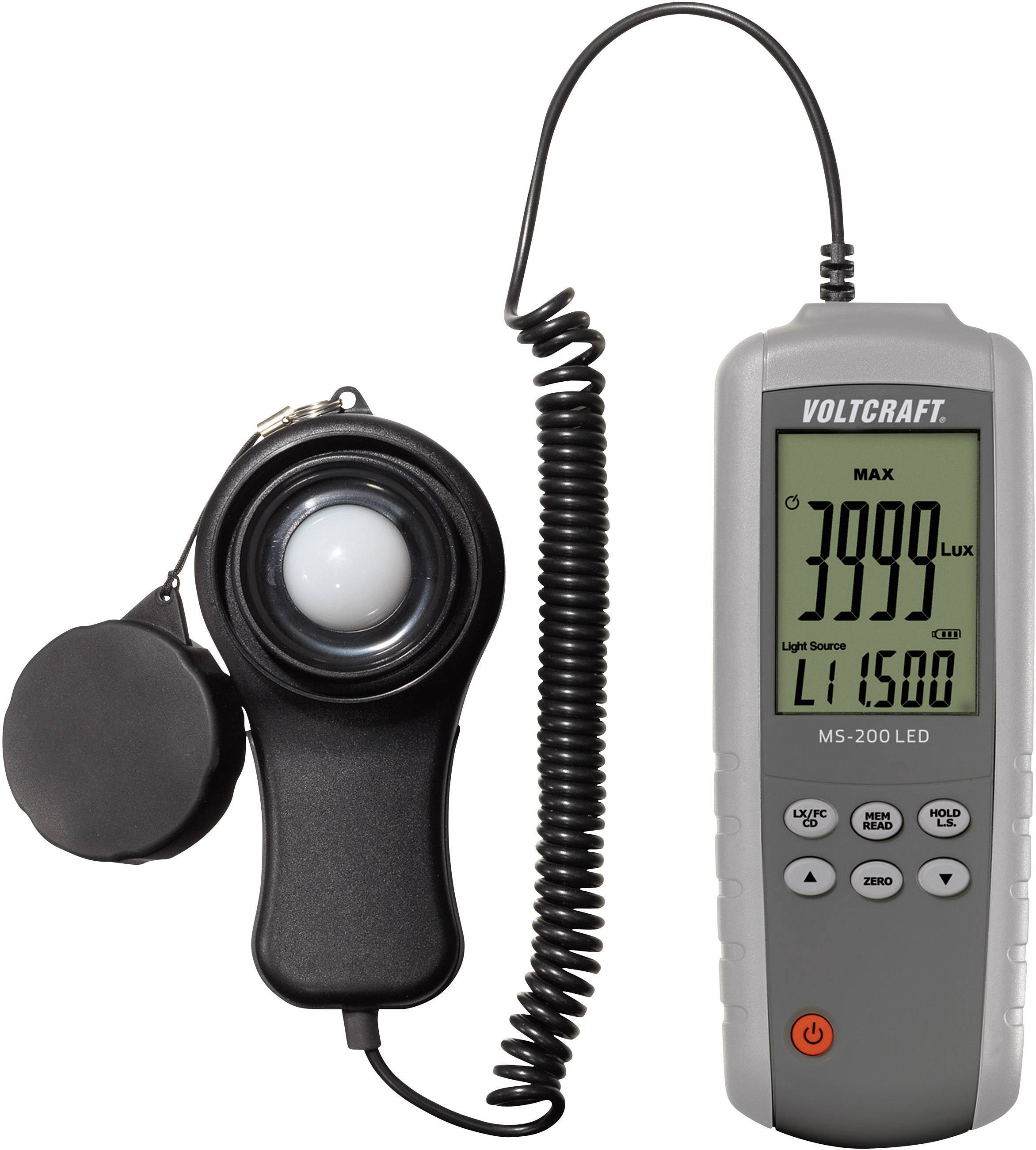 Luxmeter Voltcraft MS-200LED, 400 000 lx