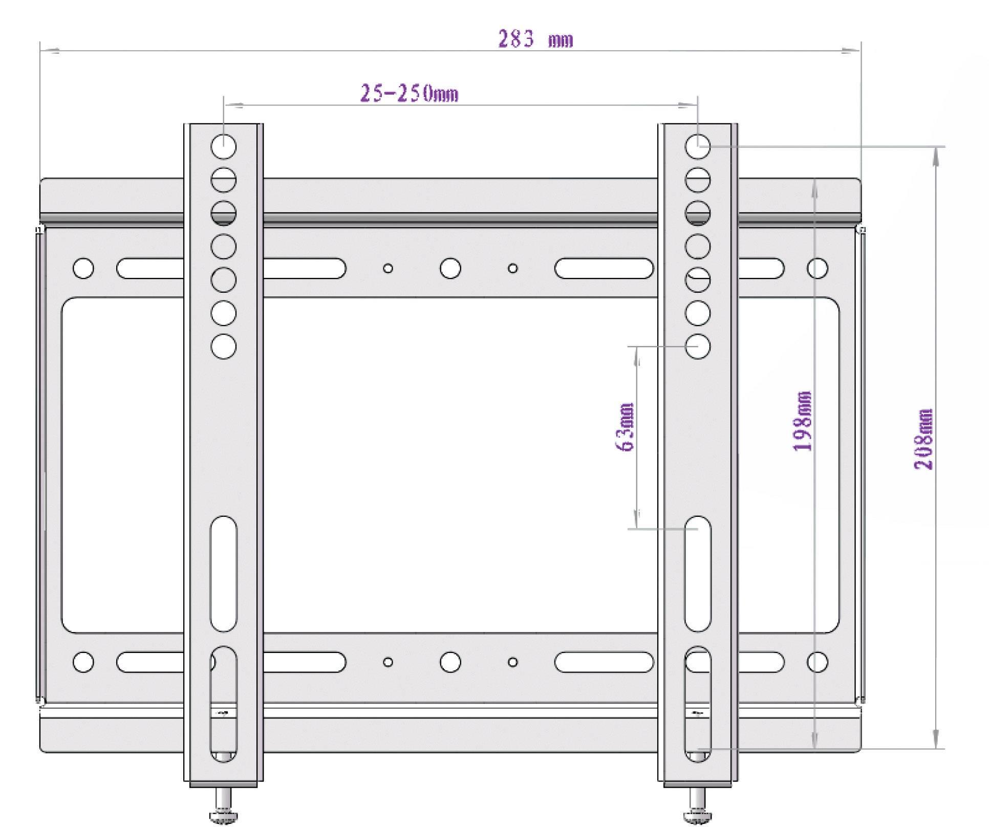 "Nástenný TV držiak Speak Professional TV-WH SLIM FIX 14Z-42Z, 14"" - 37"" (35,6 cm - 106,7 cm)"