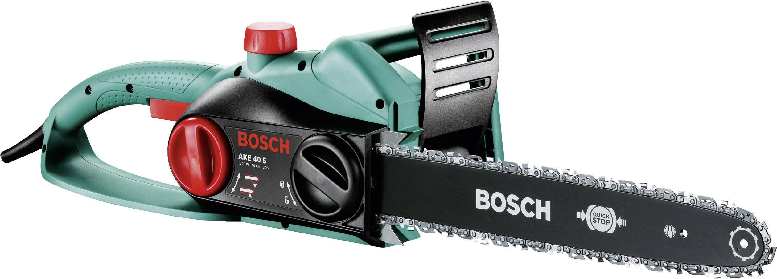 Elektrická řetězová pila Bosch Home and Garden AKE 40 S, 230 V, 1800 W, délka čepele 400 mm