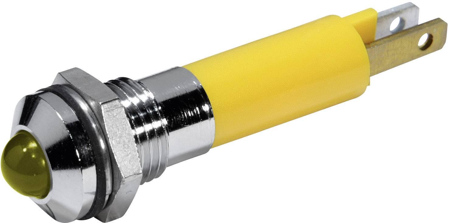 LED signálka CML 19040252, IP67, 12 V/DC, žlutá
