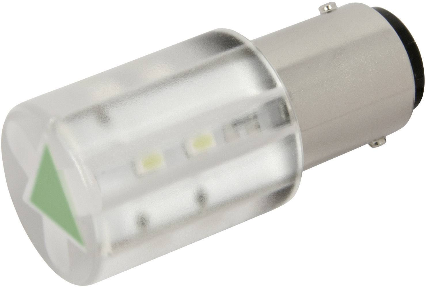 LEDžiarovka CML 18560351, BA15d, 24 V/DC, 24 V/AC, 1050 mcd, zelená