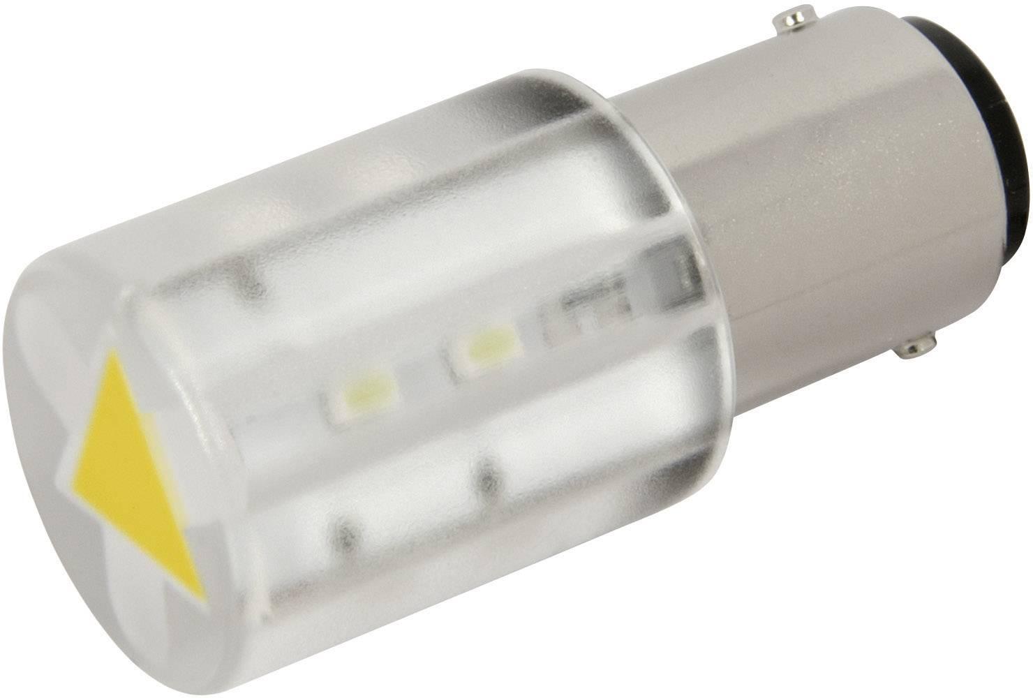 LEDžiarovka CML 18560352, BA15d, 24 V/DC, 24 V/AC, 400 mcd, žltá