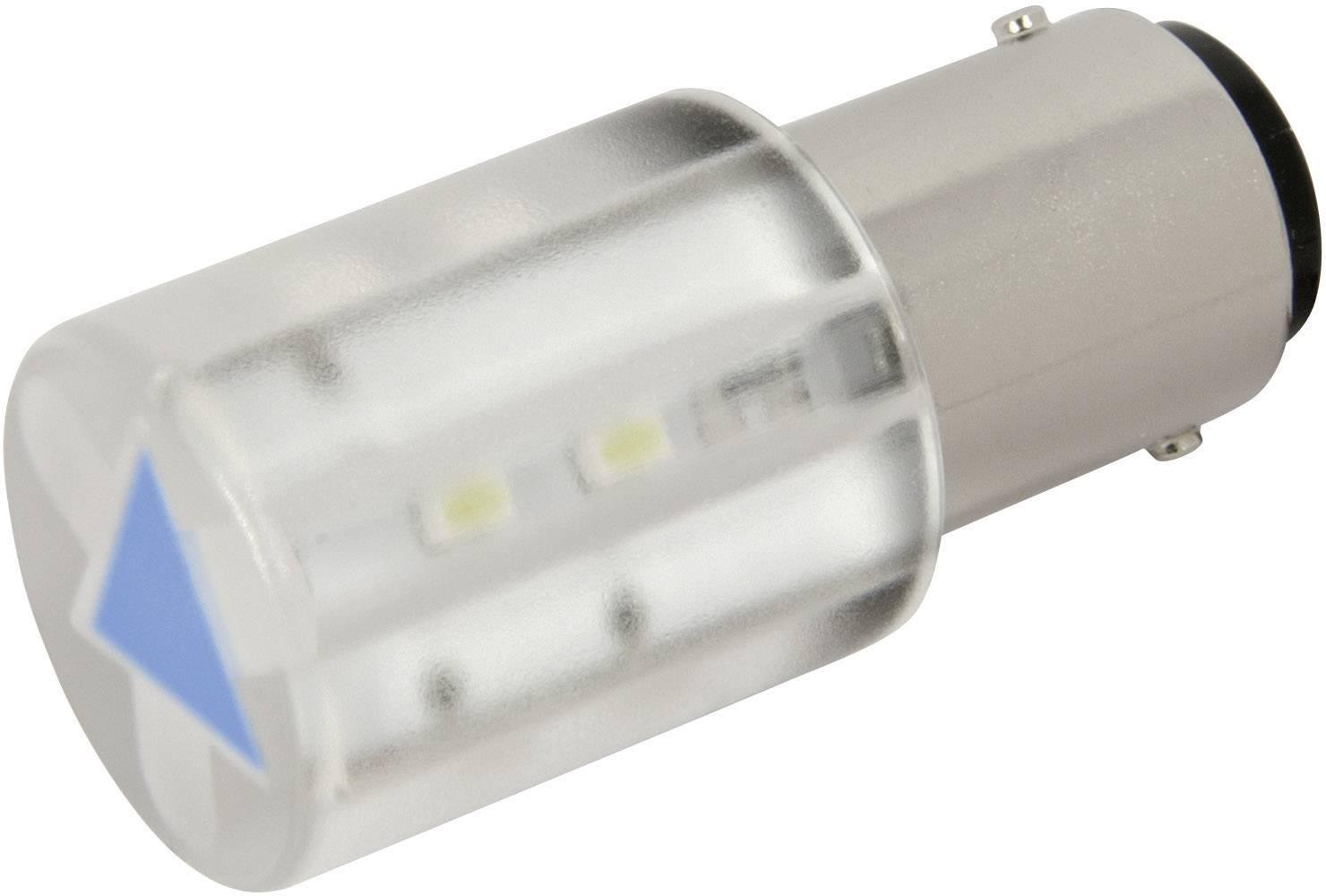 LEDžiarovka CML 18560357, BA15d, 24 V/DC, 24 V/AC, 210 mcd, modrá