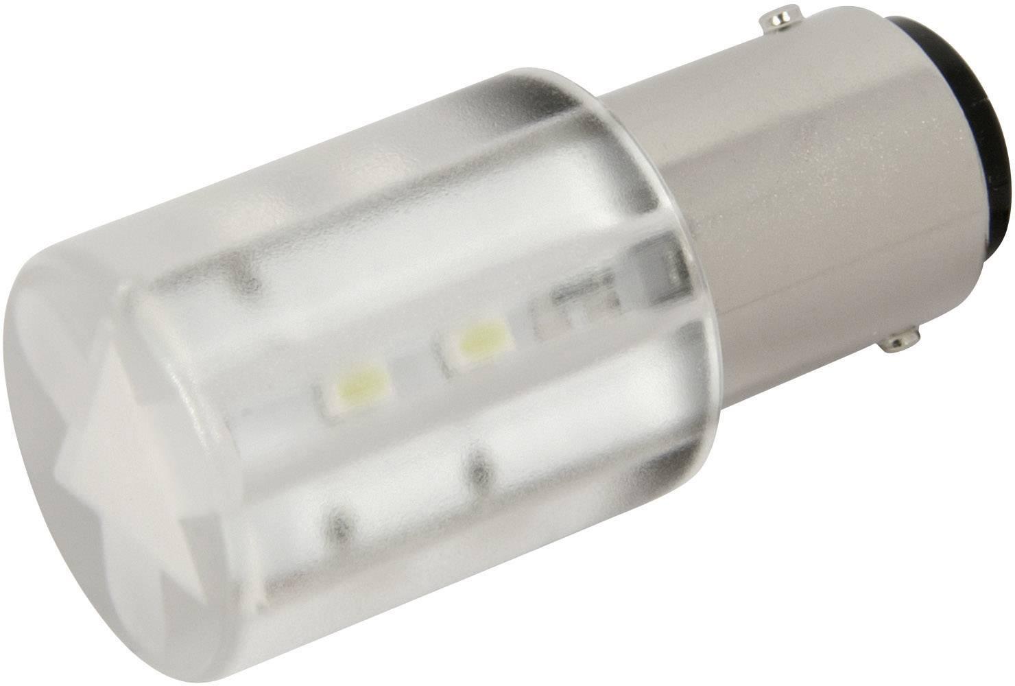 LEDžiarovka CML 1856035W, BA15d, 24 V/DC, 24 V/AC, 1400 mcd, chladná biela