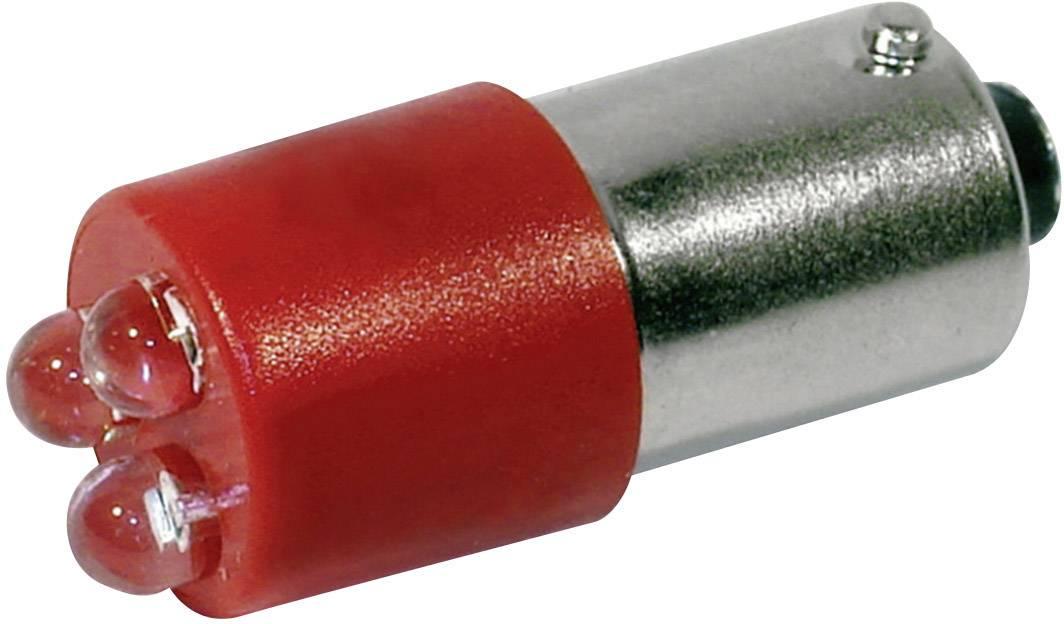 LEDžiarovka CML 18620350, BA9s, 24 V/DC, 24 V/AC, 400 mcd, červená