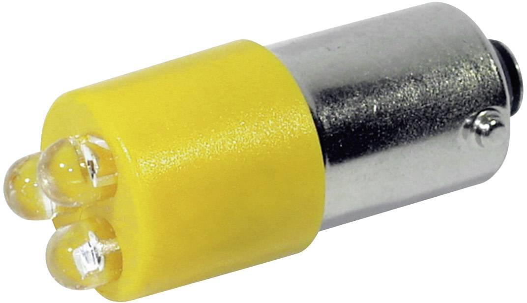 LED žárovka BA9s CML, 18626232, 230 V, 110 mcd, žlutá