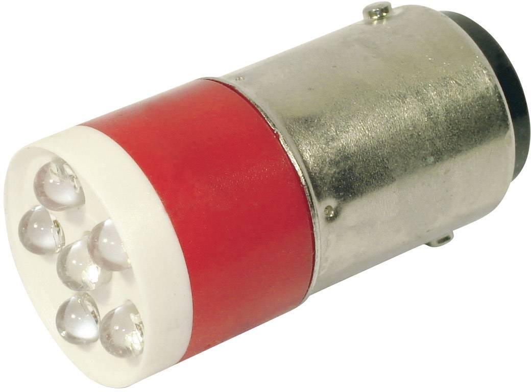 LEDžiarovka CML 18640350C, BA15d, 24 V/DC, 24 V/AC, 1260 mcd, červená