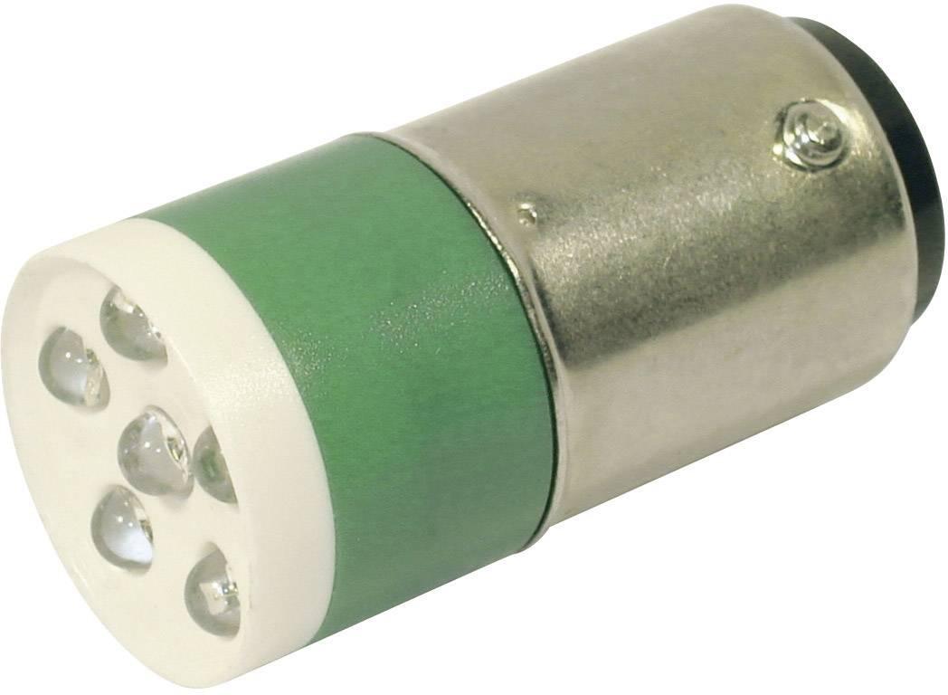 LEDžiarovka CML 18640351, BA15d, 24 V/DC, 24 V/AC, 3150 mcd, zelená