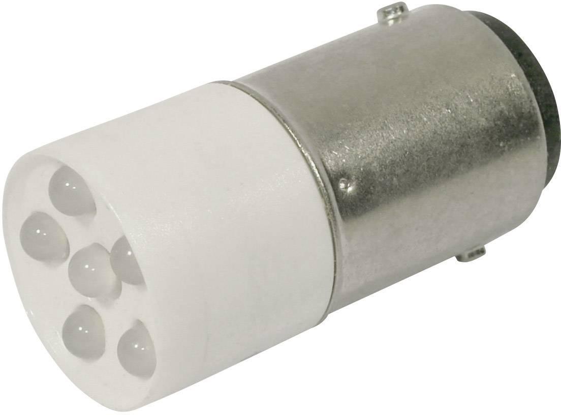 LEDžiarovka CML 1864035W3D, BA15d, 24 V/DC, 24 V/AC, 1200 mcd, chladná biela