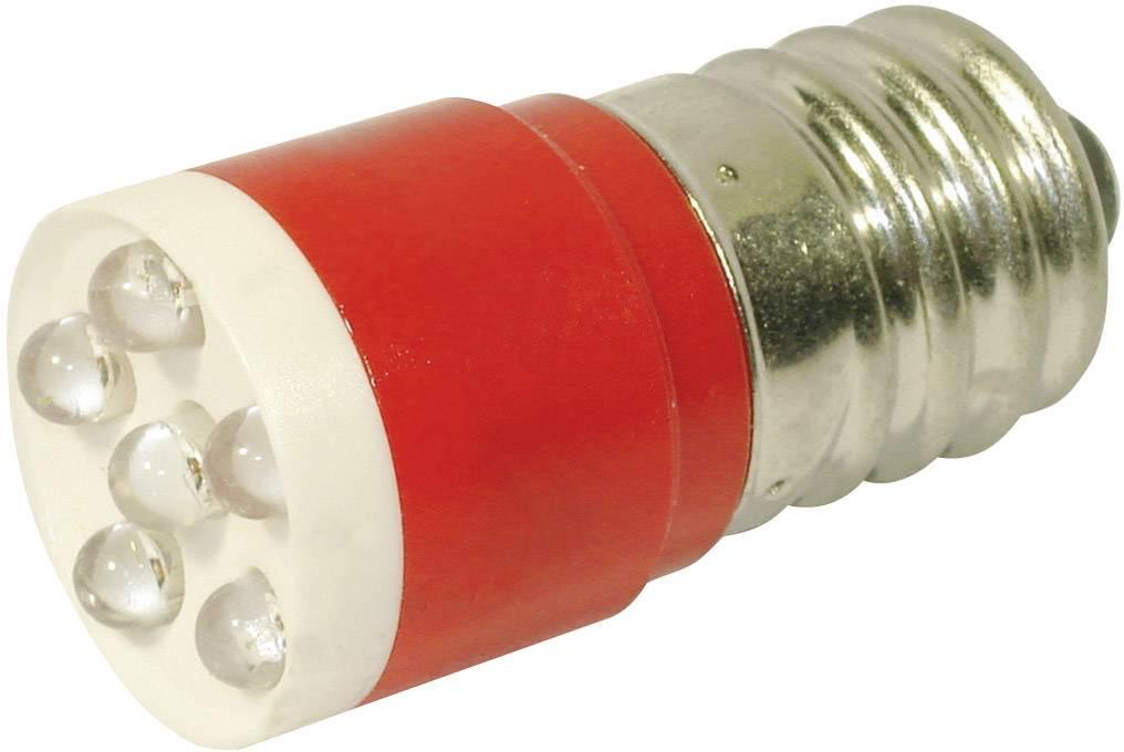LEDžiarovka CML 18646350C, E14, 24 V/DC, 24 V/AC, 1260 mcd, červená