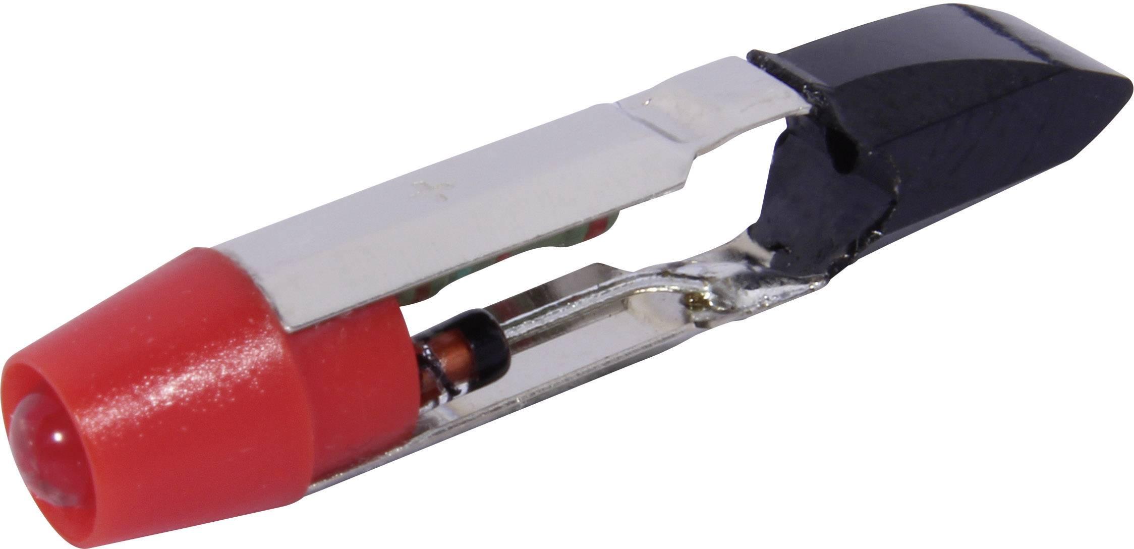 LEDžiarovka CML 1505135UR3, T5.5, 24 V/DC, 24 V/AC, 330 mcd, červená