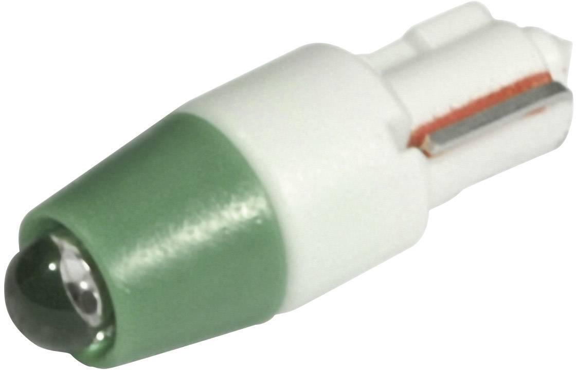 LED žárovka W2x4.6d CML, 1511A35UG3, 24 V, 1500 mcd, zelená