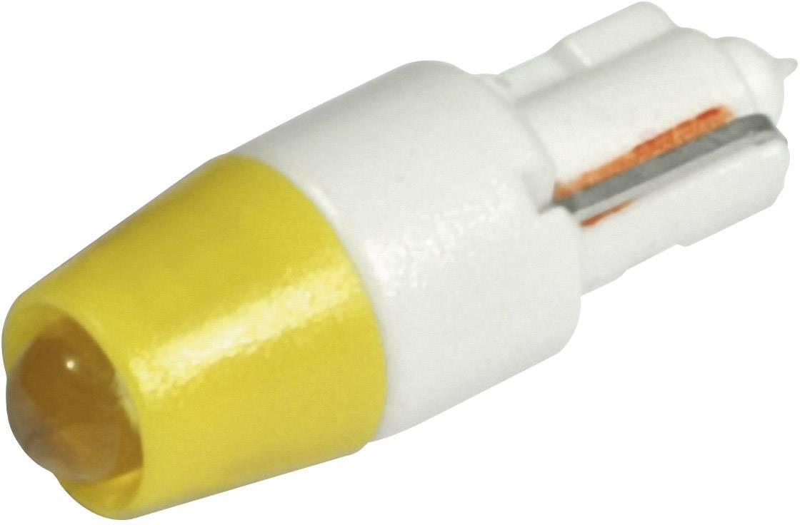 LEDžiarovka CML 1511A25UY3, W 2 x 4,6 d, 12 V/DC, 12 V/AC, 240 mcd, žltá