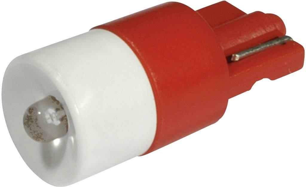 LEDžiarovka CML 1511B25UR3, W2, 1x9, 5d, 12 V/DC, 12 V/AC, 330 mcd, červená