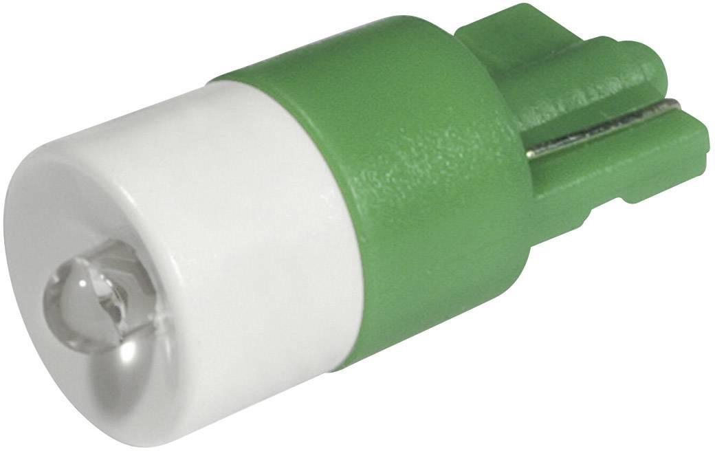 LEDžiarovka CML 1511B25UG3, W2, 1x9, 5d, 12 V/DC, 12 V/AC, 2100 mcd, zelená