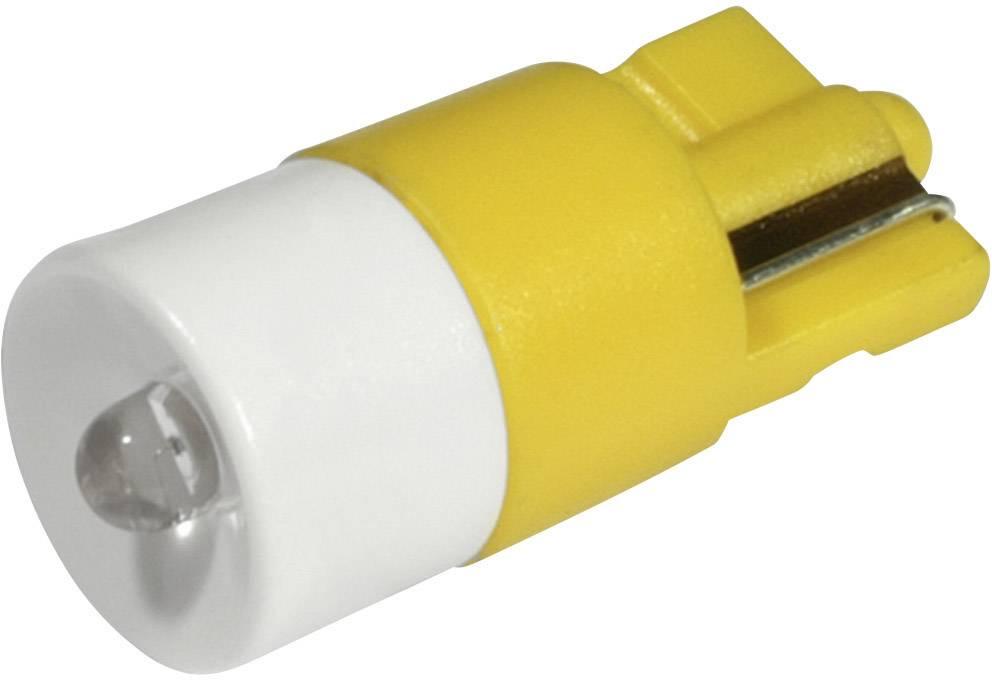 LEDžiarovka CML 1511B35UY3, W2, 1x9, 5d, 24 V/DC, 24 V/AC, 280 mcd, žltá
