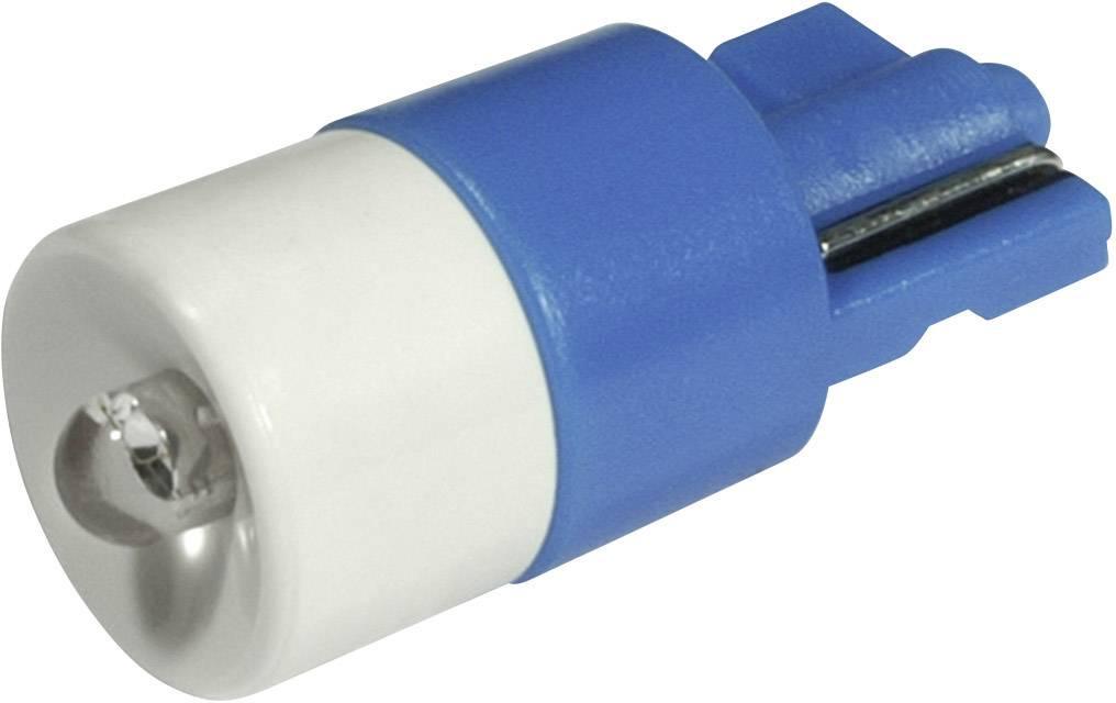 LEDžiarovka CML 1511B25B3, W2, 1x9, 5d, 12 V/DC, 12 V/AC, 650 mcd, modrá