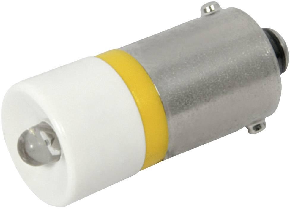 LED žárovka BA9s CML, 18606232, 230 V, 110 mcd, žlutá