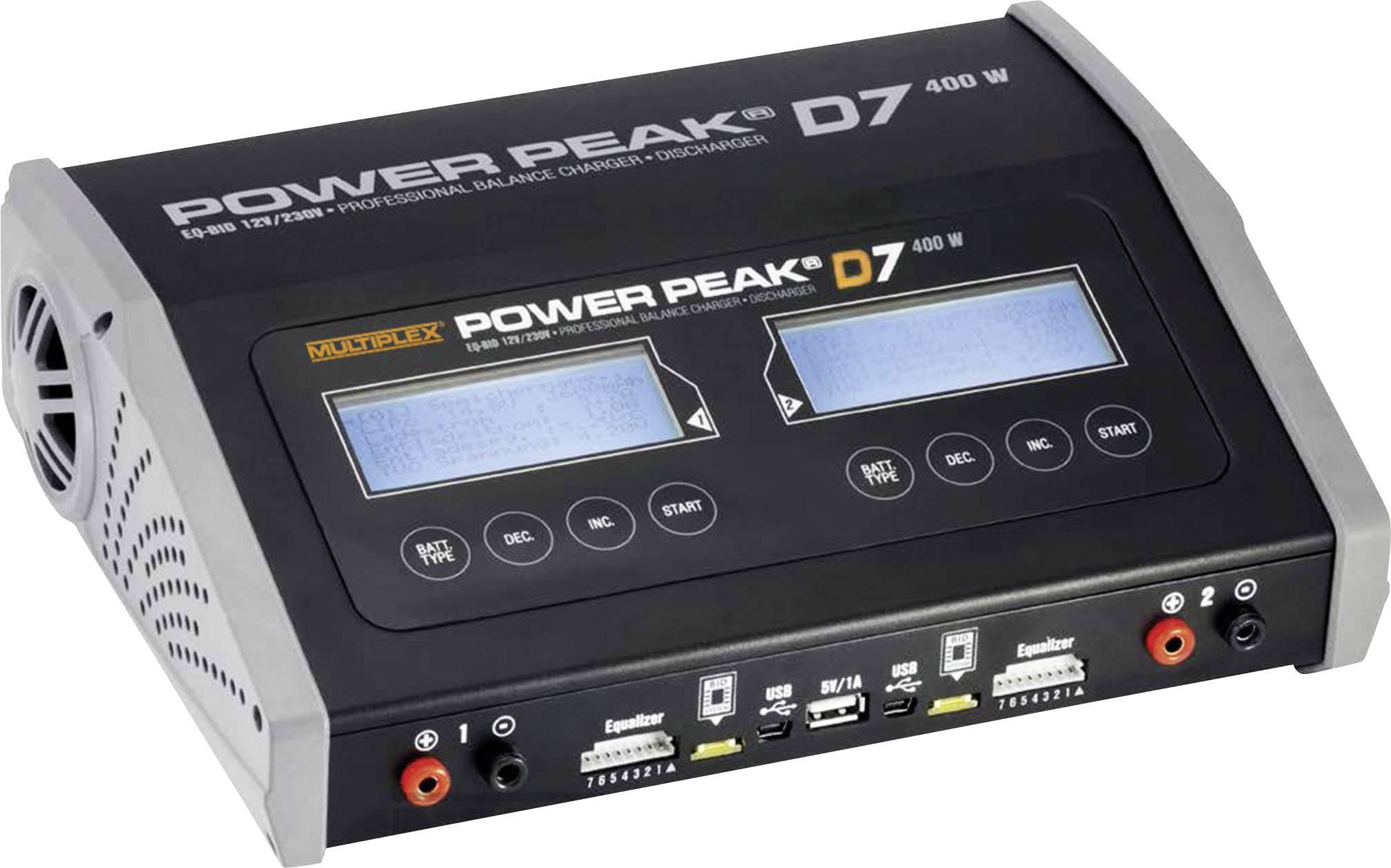 Modelárska multifunkčná nabíjačka Power Peak D7 EQ-BID 308129, 12 V, 220 V, 20 A