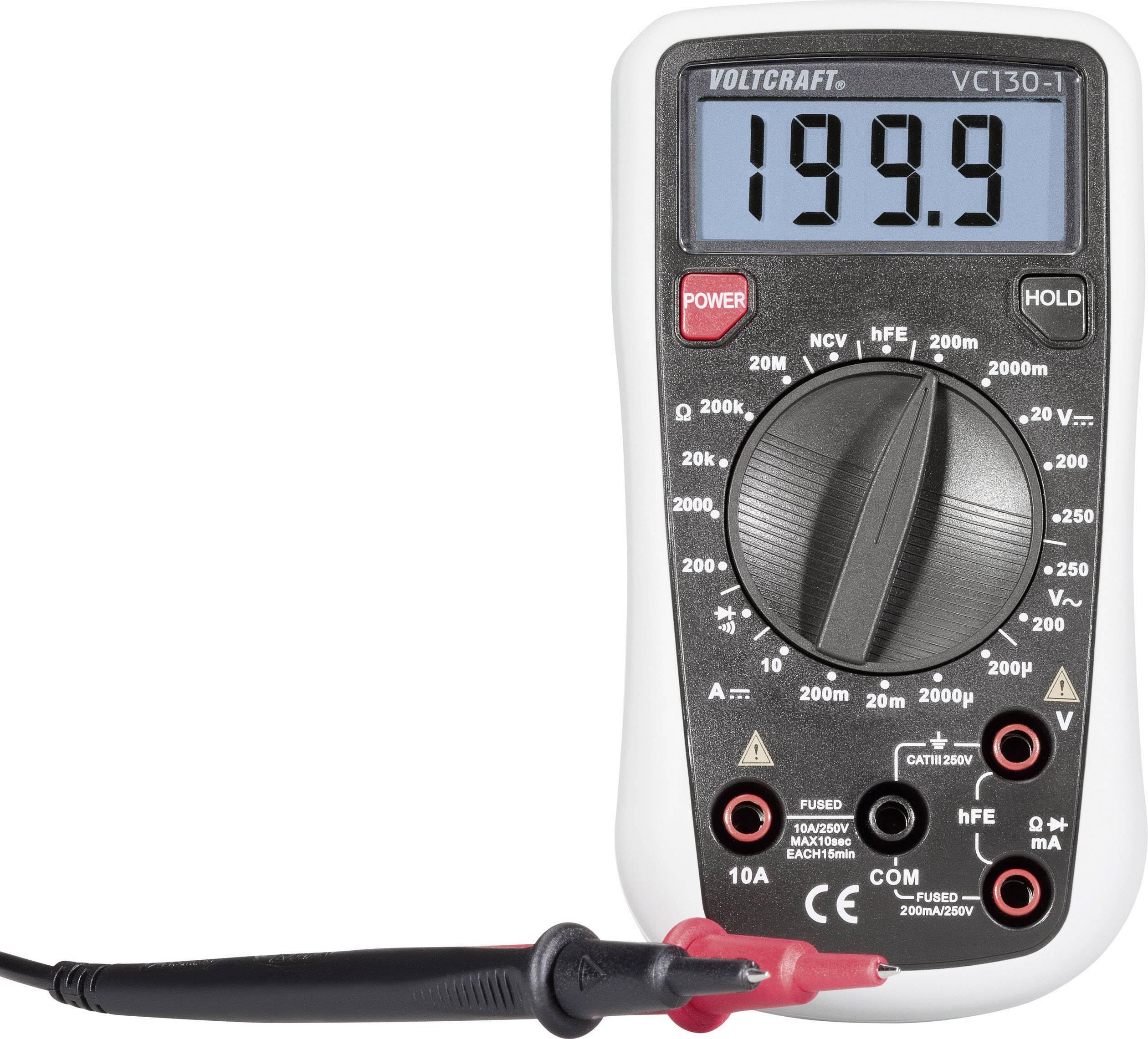 Digitálne/y ručný multimeter VOLTCRAFT VC130-1