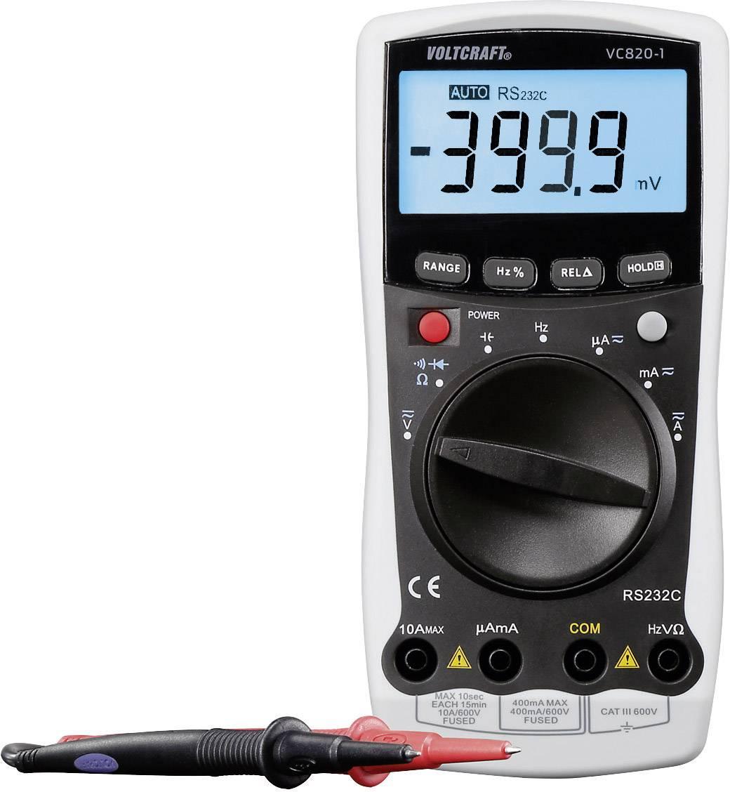 Digitálne/y ručný multimeter VOLTCRAFT VC820-1, kalibrácia podľa ISO