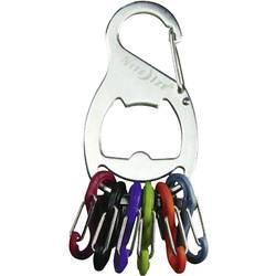 Karabina na klíče 1 ks stříbrná