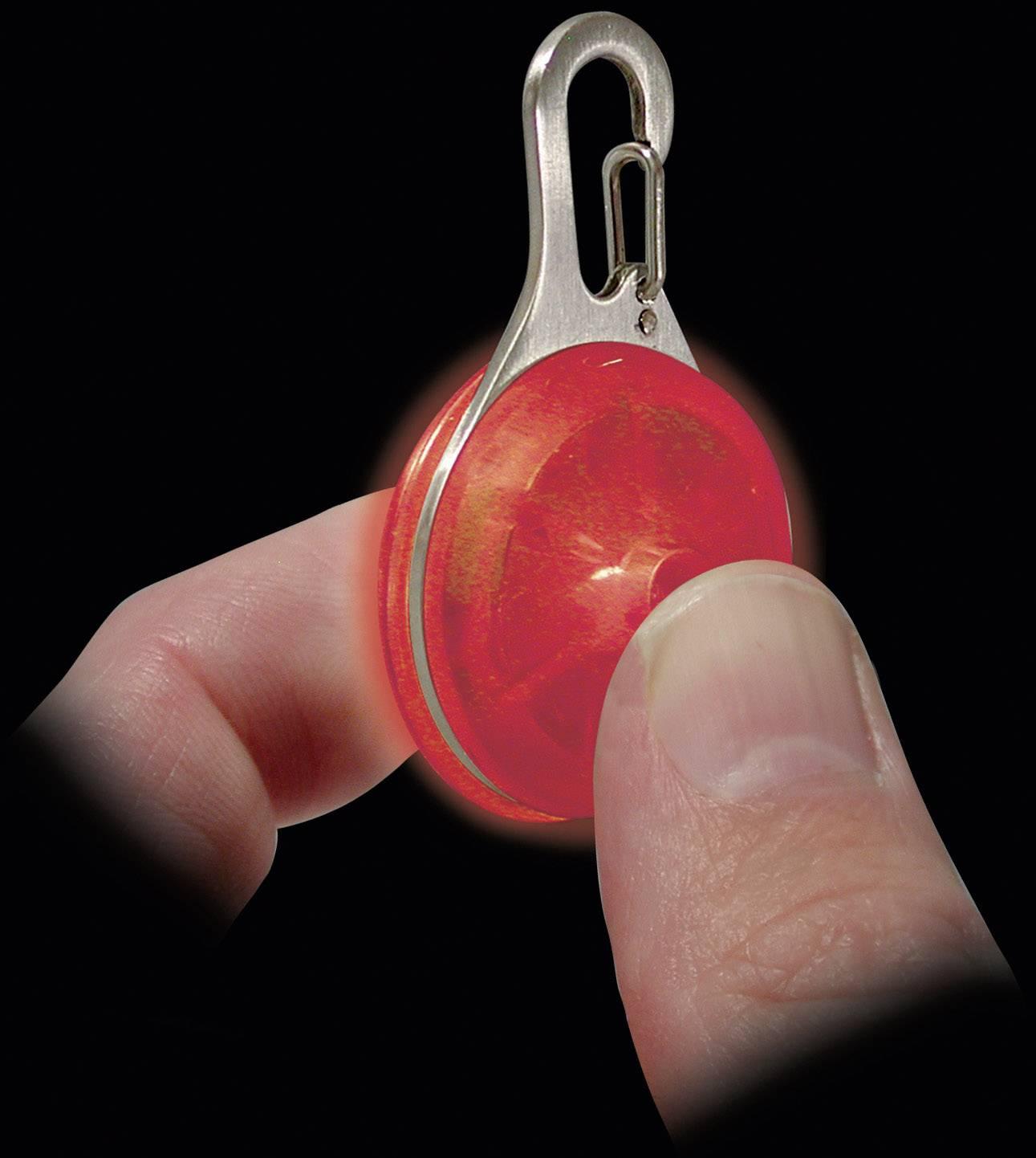 Malé LED světlo na klíče Nite Ize SpotLit, červená (NI-SLG-06-10)