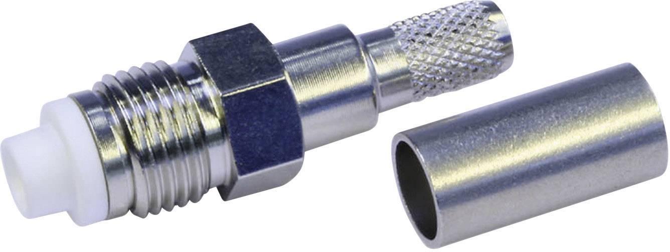 FME konektor zásuvka, rovná Telegärtner J01701A0003, 50 Ohm, 1 ks