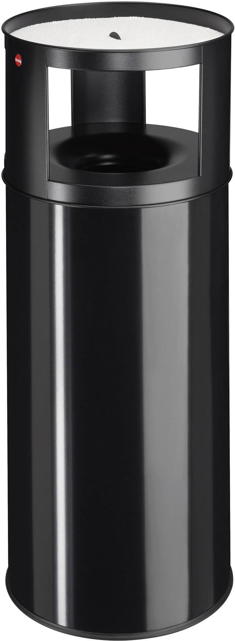 Odpadkový koš s popelníkem Hailo ProfiLine care XXL, 960 mm, Vnější Ø 390 mm, 75 l, černá