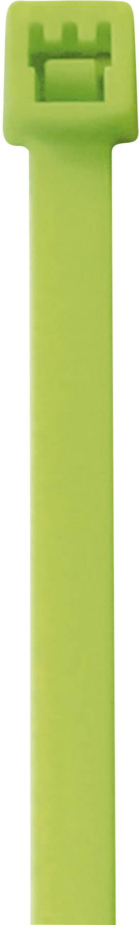 Neonska kabelska vezica, fluorescenčna (D x Š) 285 mm x 4.6 mm zelena, 50 kosov, PB Fastener