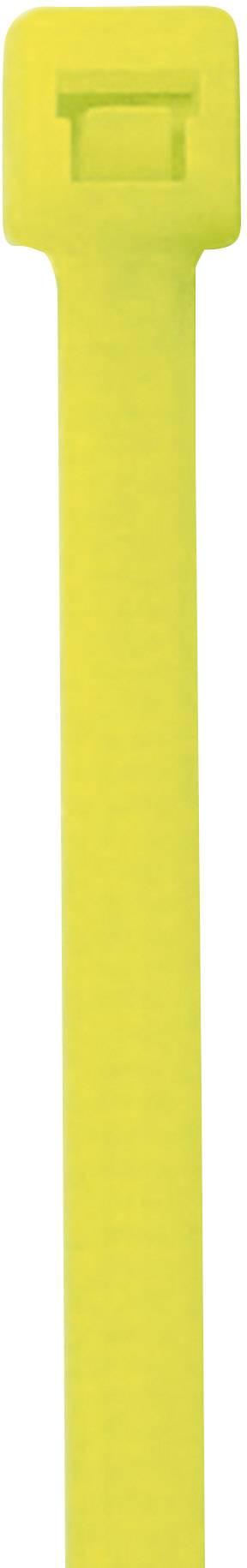 Neonska kabelska vezica, fluorescenčna (D x Š) 285 mm x 4.6 mm rumena, 50 kosov, PB Fastener