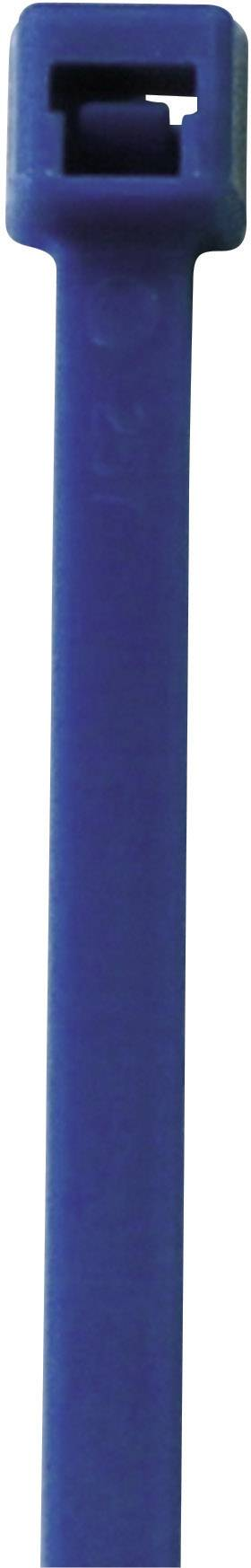 Neonska kabelska vezica, fluorescenčna (D x Š) 192 mm x 4.6 mm modra, 50 kosov, PB Fastener