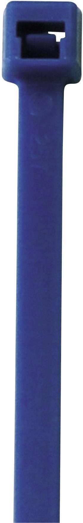 Neonska kabelska vezica, fluorescenčna (D x Š) 285 mm x 4.6 mm modra, 50 kosov, PB Fastener