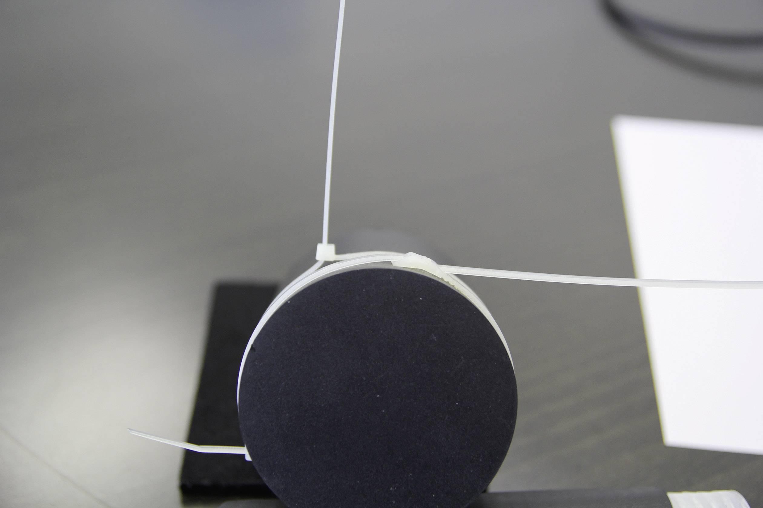 Kabelska vezica s ploščatim profilom (D x Š) 406 mm x 7.6 mm naravna barva, 25 St. PB Fastener