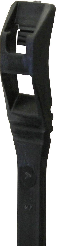 Kabelska vezica s ploščatim profilom (D x Š) 190.5 mm x 4.5 mm črna, 25 St. PB Fastener