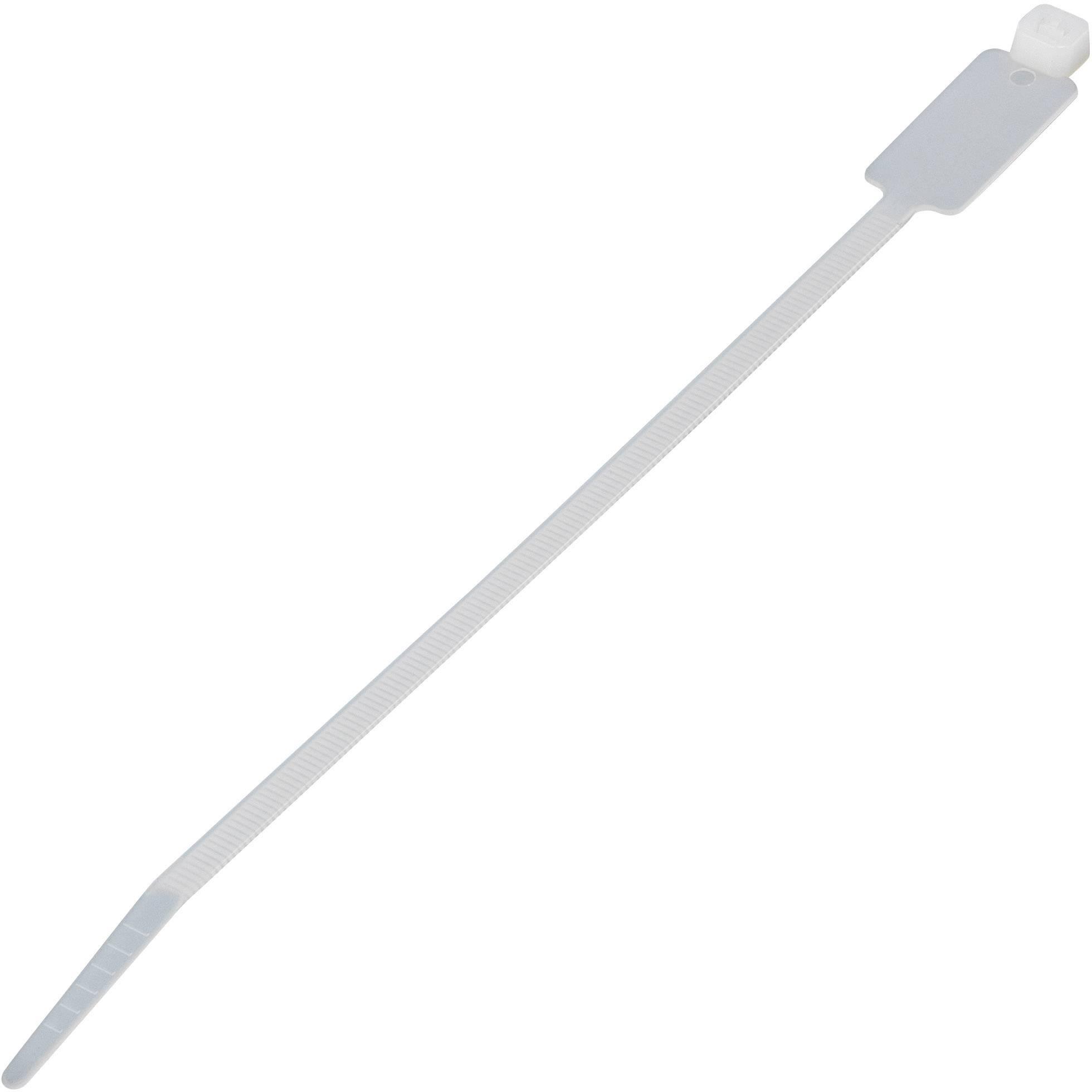 Kabelska vezica s poljem za napis (D x Š) 100 mm x 2.5 mm MCV-100 naravna barva, 100 kosov, KSS