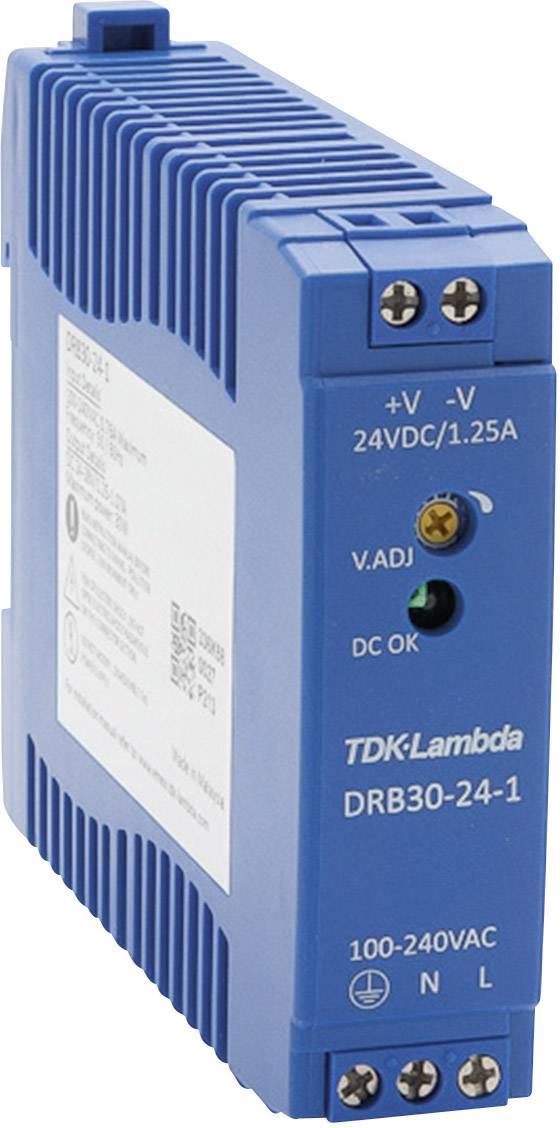 Zdroj na DIN lištu TDK-Lambda DRB30-24-1, 24 V/DC, 1,25 A