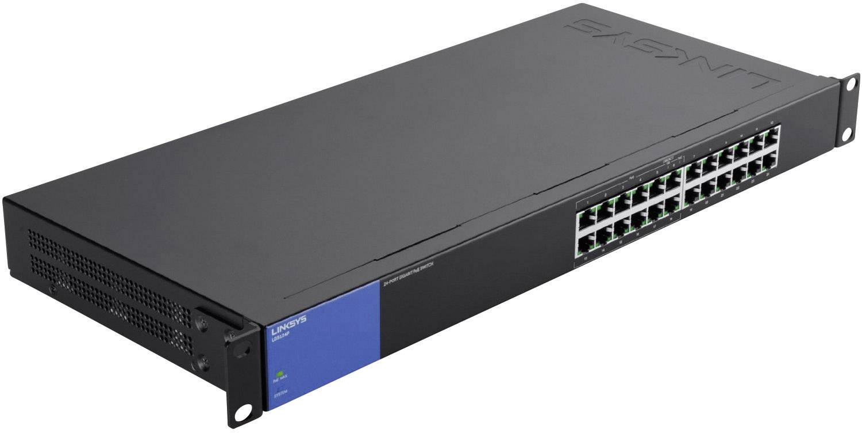 Síťový switch Linksys, LGS124P, 24 portů, 1 Gbit/s, funkce PoE