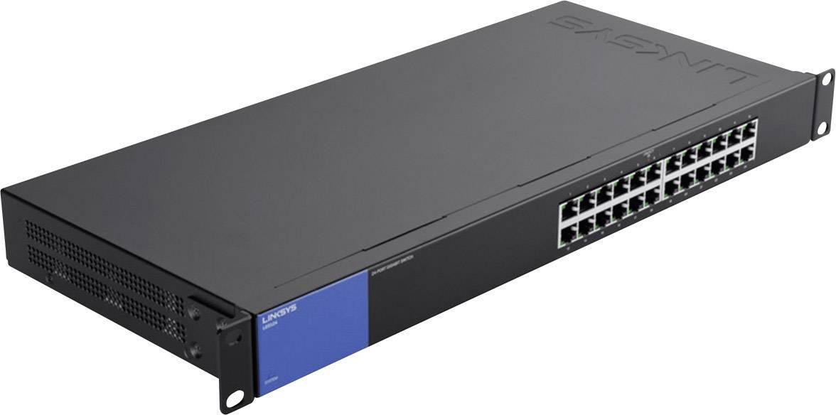 Síťový switch Linksys, LGS124, 24 portů, 1 Gbit/s
