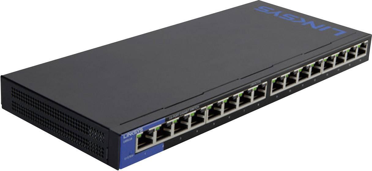 Síťový switch Linksys, LGS116, 16 portů, 1 Gbit/s