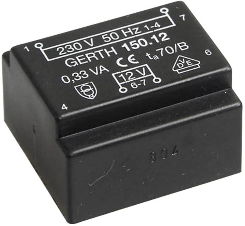 Transformátor do DPS Gerth EE 20/6,1, prim: 230 V, Sek: 15 V, 23 mA, 0,35 VA