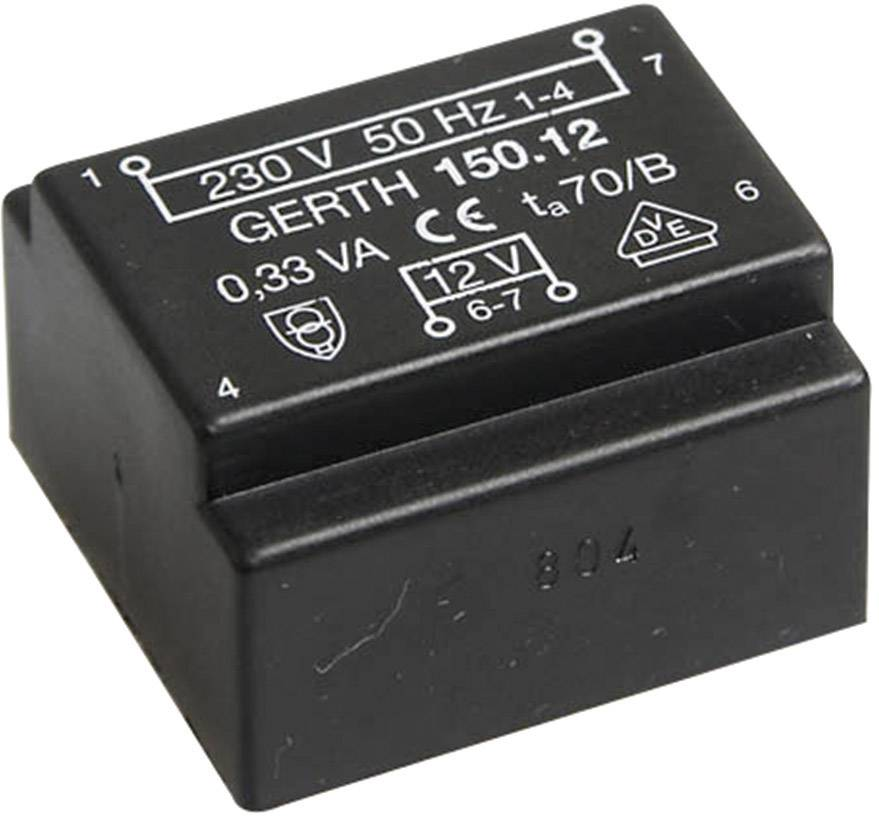 Transformátor do DPS Gerth EE 20/6,1, prim: 230 V, Sek: 24 V, 14 mA, 0,35 VA
