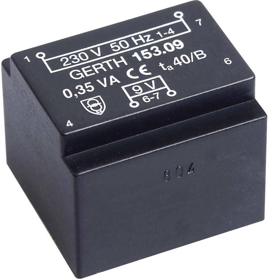 Transformátor do DPS Weiss Elektrotechnik EE 20/10,5, P: 230 V, S: 15 V, 23 mA, 0,35 VA