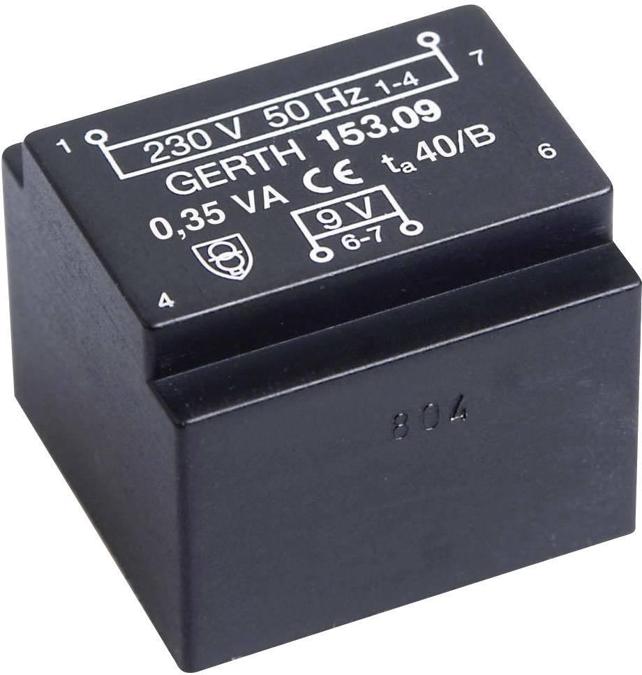 Transformátor do DPS Gerth EE 20/10,5, prim: 230 V, Sek: 24 V, 14 mA, 0,35 VA