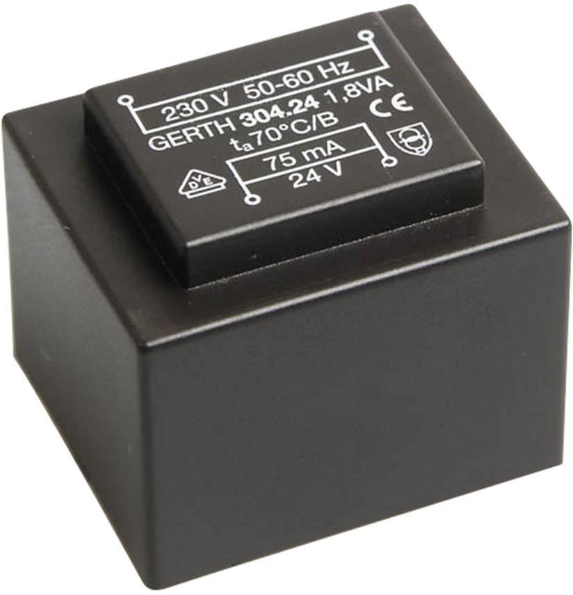 Transformátor do DPS Gerth EI 30/15,5, prim: 230 V, Sek: 9 V, 200 mA, 1,8 VA